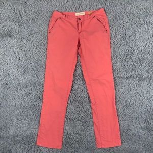 Pilcro and the letterpress straight coral pants